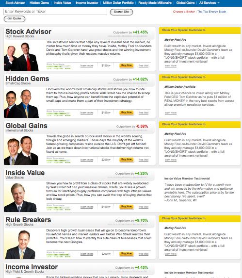 Fool.com Marketplace Landing Page