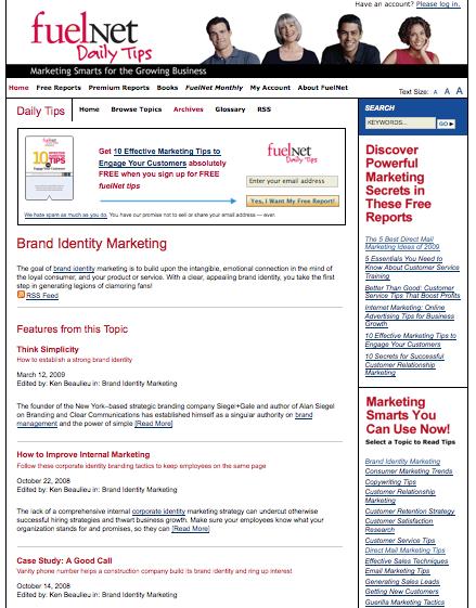 FuelNet.com Tag Landing Page