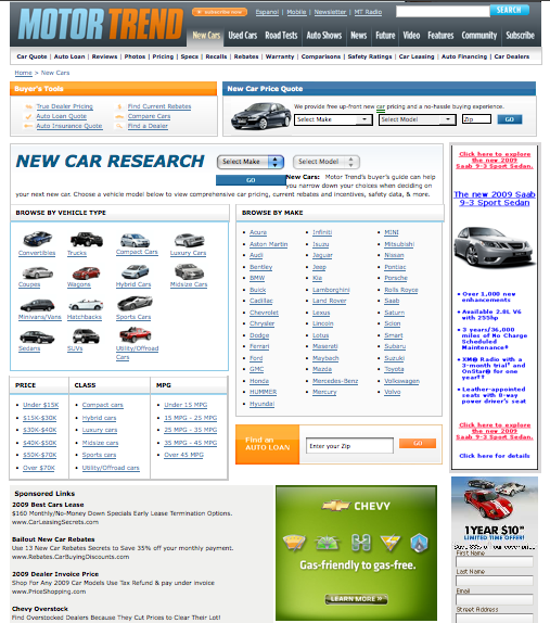MotorTrend.com Topic Landing Page