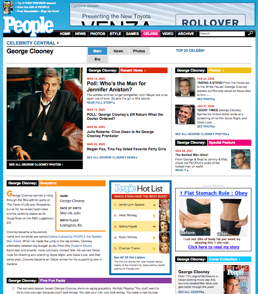 People.com Tag Landing Page