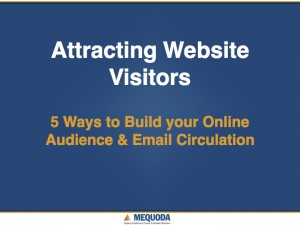 Attracting Website Visitors