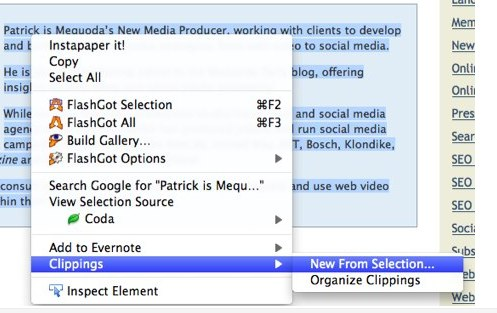 Clippings - FireFox Extension