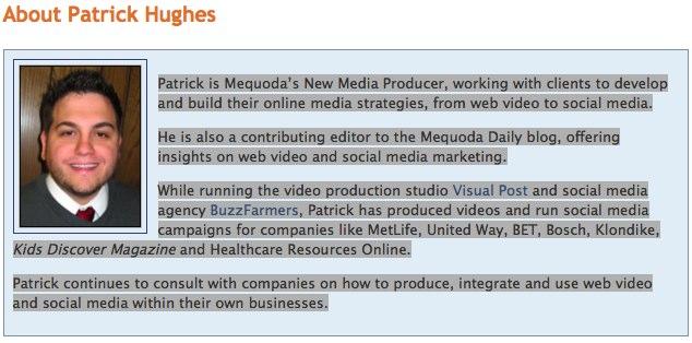 Mequoda Editor – Patrick Hughes