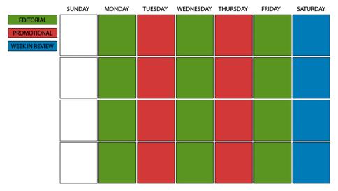 Mequoda Email Editorial Calendar