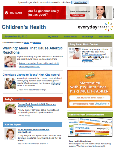 EverydayHealth.com Newsletter
