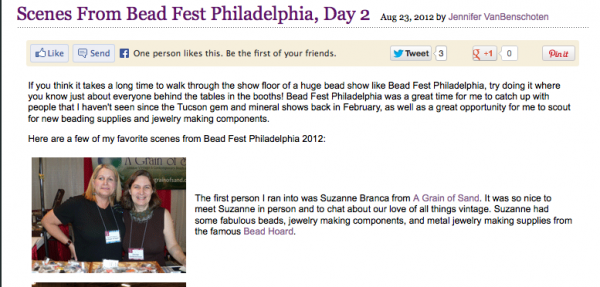 ideas for blog posts beadfest
