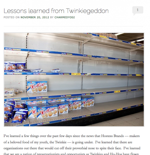 ideas for blog posts twinkies