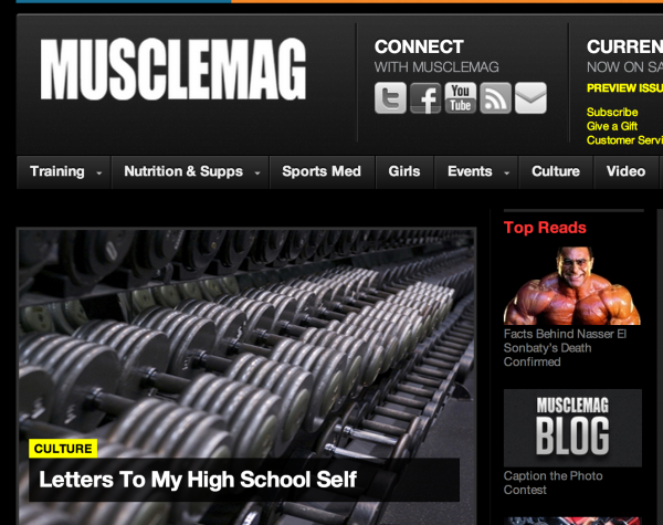 Muscle Mag Editorial Direction