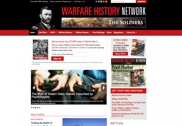 warfare history network