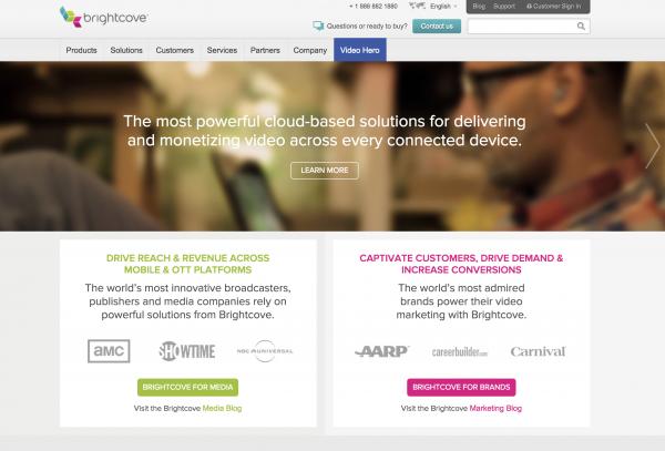 brightcove online video platform