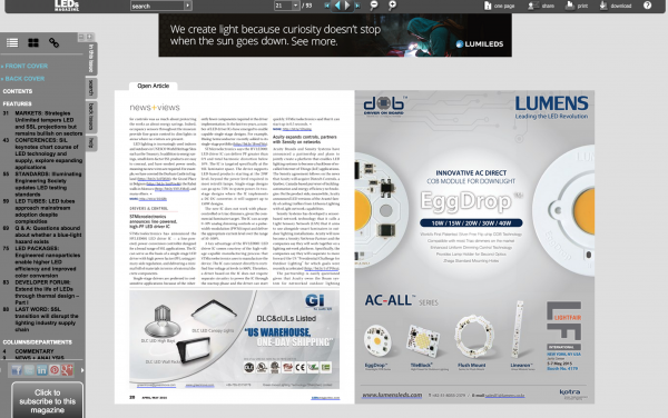 leds digital magazine example