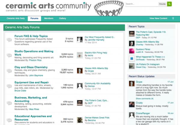 Ceramic Arts Community website business model example