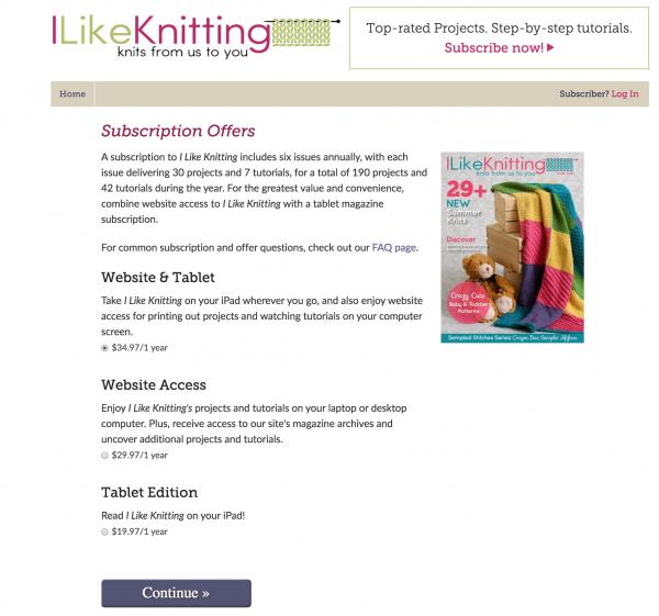 i like knitting pricing