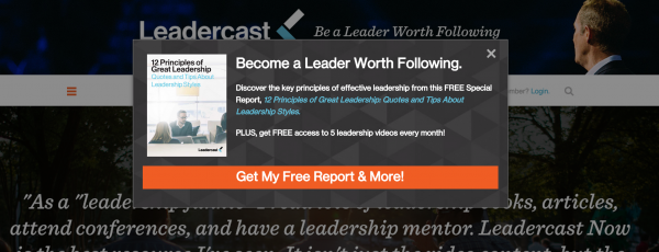 leadercast call to action example