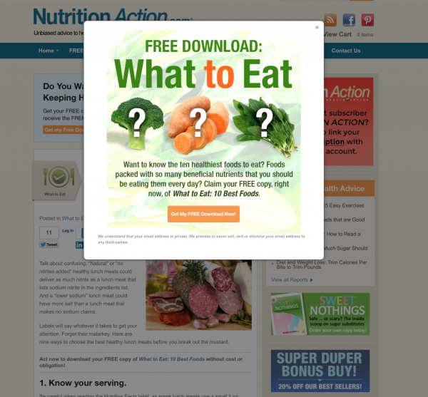 nutrition action examples