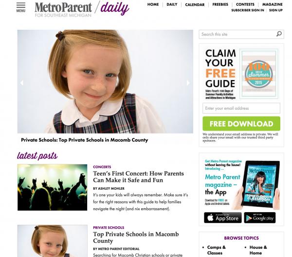 metro parent homepage