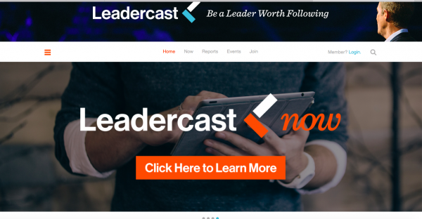 Leadercast home page classroom website business model