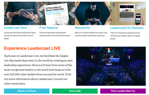 Leadercast home page 2 classroom website business model
