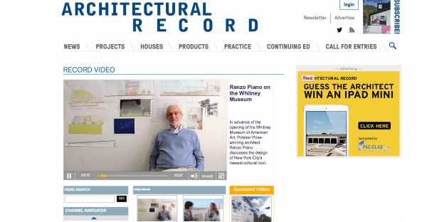 architectural record b2b magazine