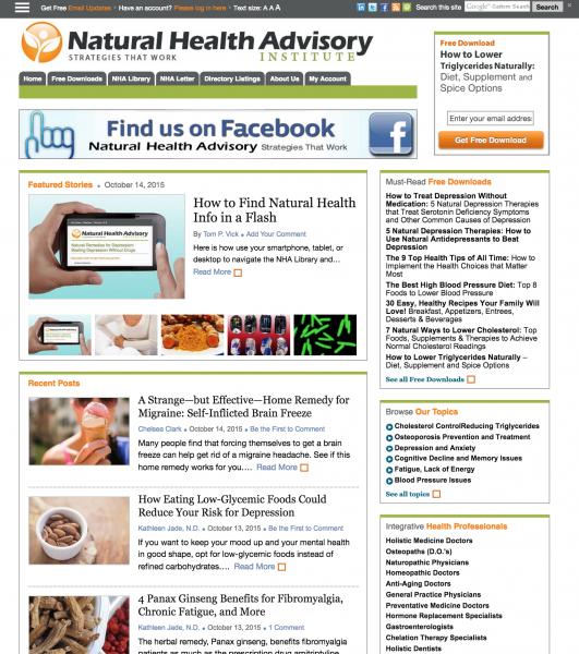 Natural Health Advisory Portal