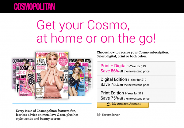 Magazine Pricing Even for the Best Digital Magazines Still