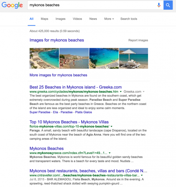 Good Keywords Aren't Obvious -- mykonos