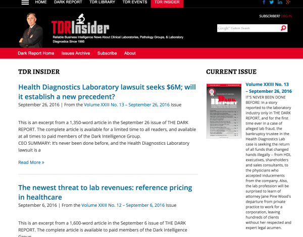 TDR INsider's newsletter business model shows a great use of the newsletter content business model