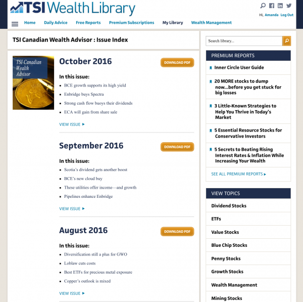 TSI's newsletter business model shows a great use of the newsletter content business model