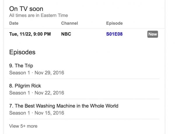 google tv listings