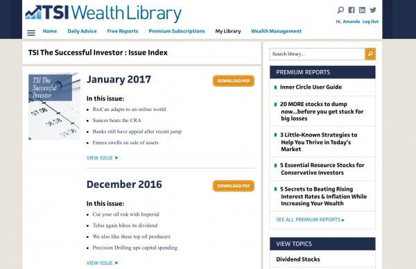 tsi newsletter subscription website business model