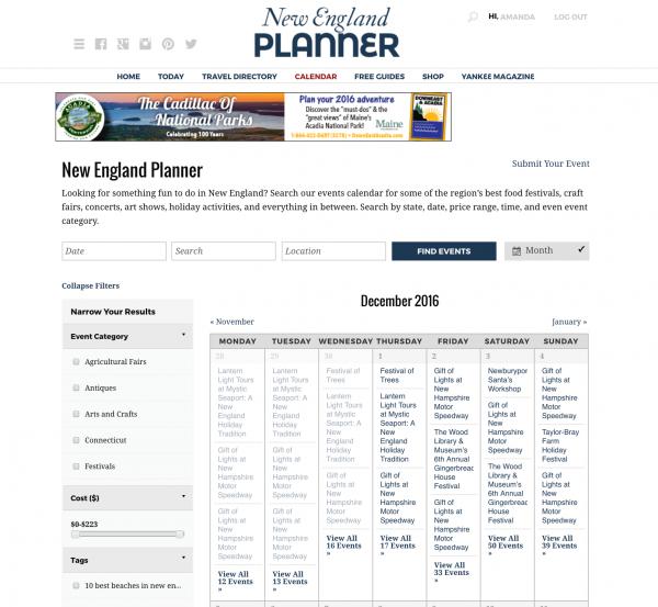 calendar website business model