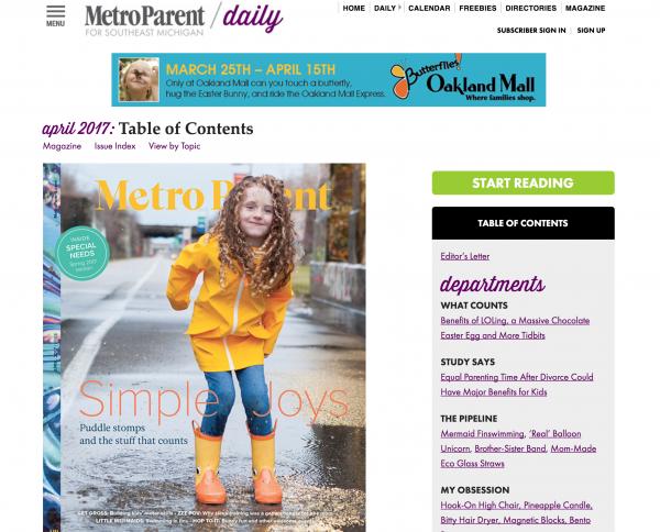 Metro Parent Subscription Website System