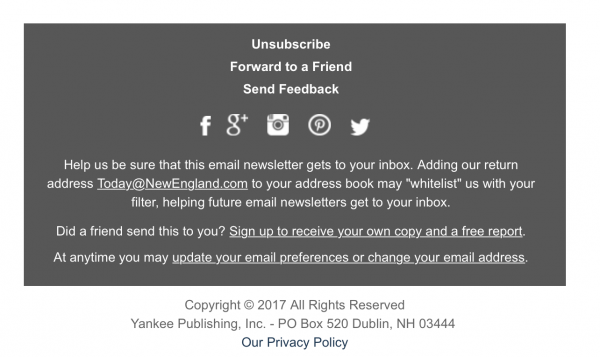 Email Footer Examples and Best Practices for Keeping Readers Happy