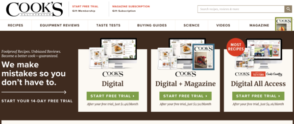 America S Test Kitchen Subscription Cost