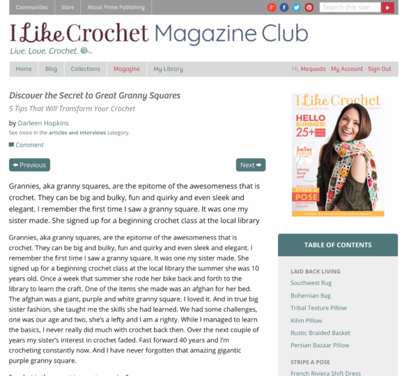 i like crochet web magazine