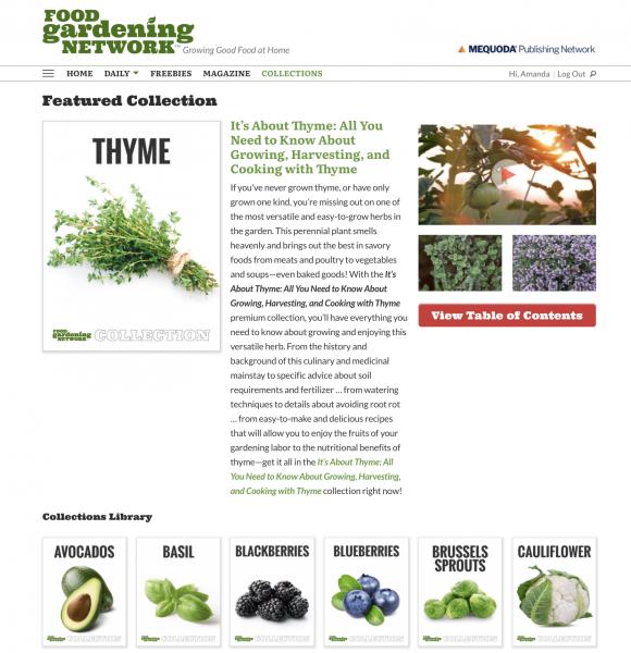 Digital Magazine Publishing Food Gardening Network Example 4