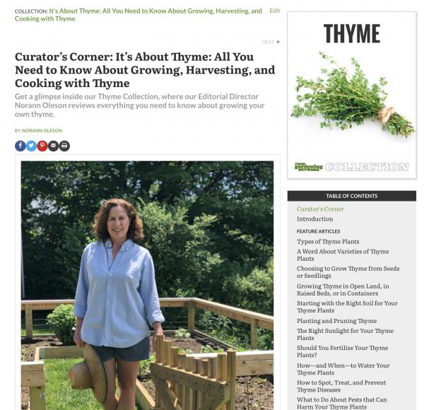 Digital Magazine Publishing Food Gardening Network Example 5