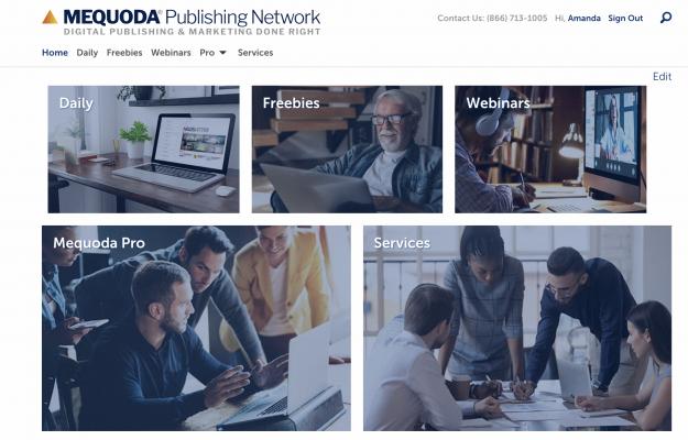 Mequoda.com Website Homepage Design
