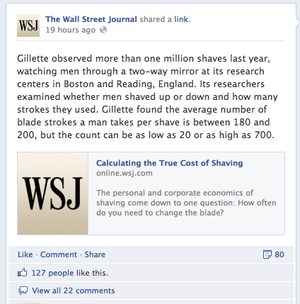 Wall Street Journal on Facebook