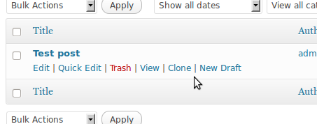 Duplicate Post - Integration with Your Lists of Posts