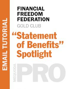 FFF Statement of Benefits spotlight cover