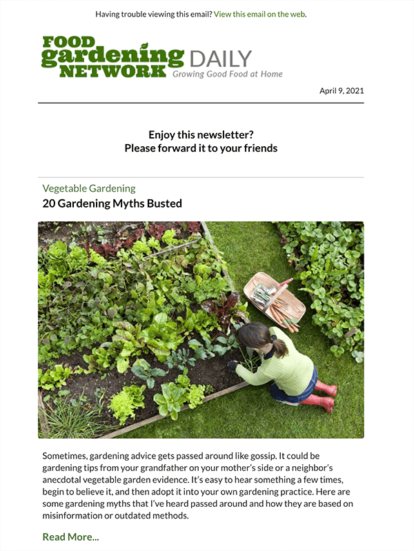 Food Gardening Network daily newsletter