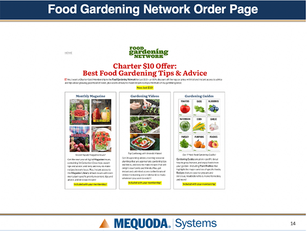 Food Gardening Network Order Page