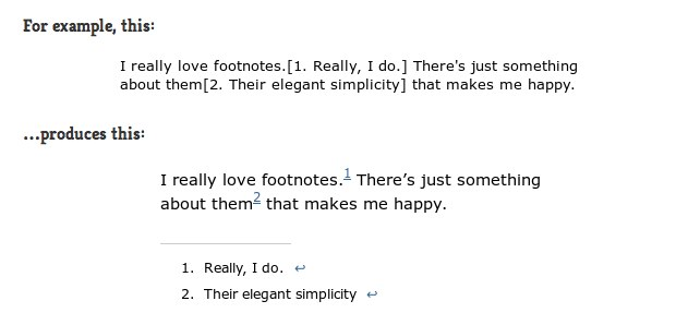 FD Footnotes Plugin for WordPress