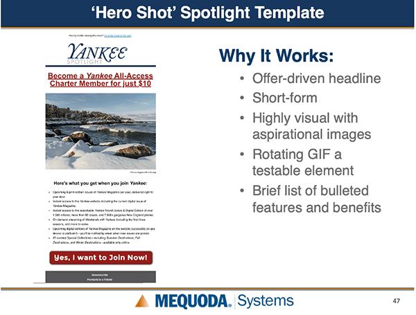 Hero Shot spotlight template