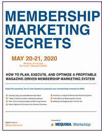 Program Guide: Membership Marketing Secrets