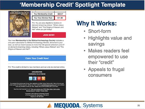 Membership Spotlight Template