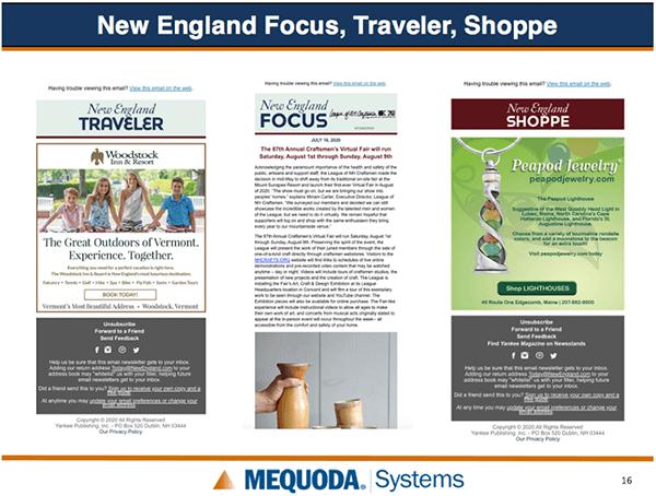New Englad Focus, Traveler and Shoppe slide