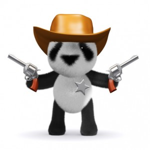 3d Cowboy panda