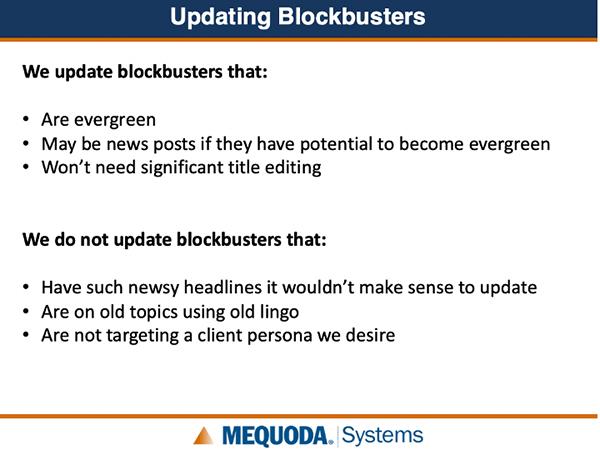 Updating Blockbusters